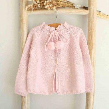 Light Pink Pom Pom Cardigan