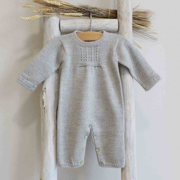 Wool Romper with chest details