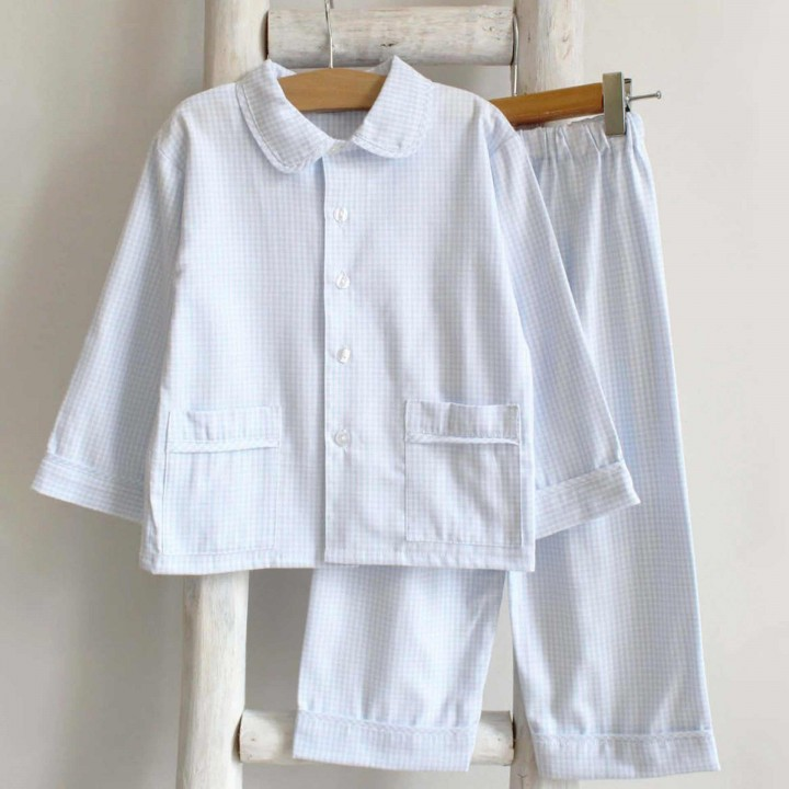 Baby blue vichy pyjama