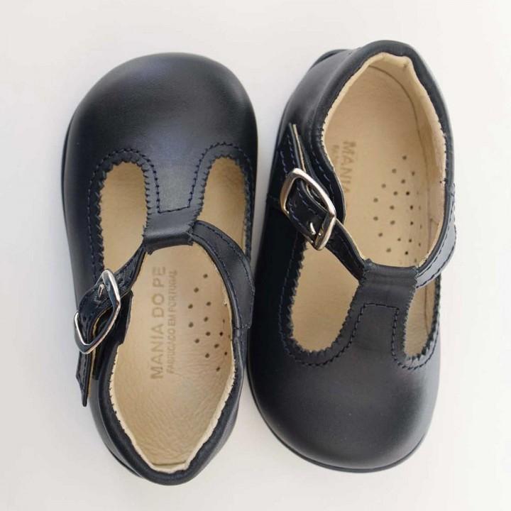 Sandálias Inglesas Azul Escuro