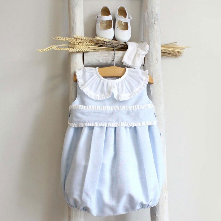 Romper with frilly sash