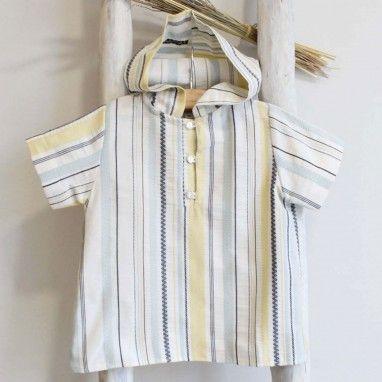 Hooded plaid shirt