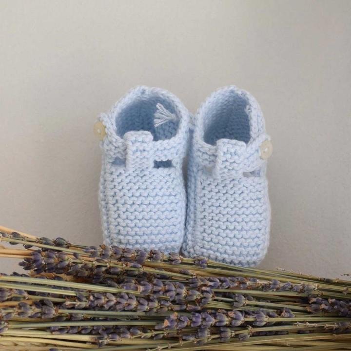Wool Light Blue Boots