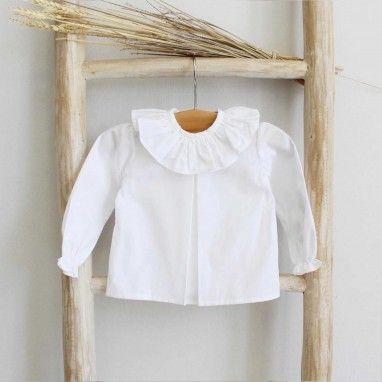 Camisa com gola de folho