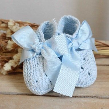 Light Blue Boots with Bow