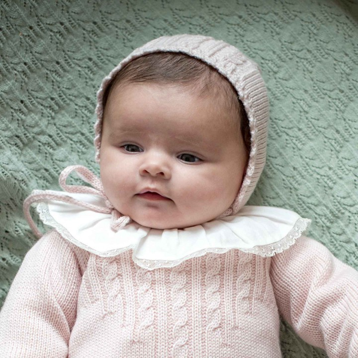 Pink Knitted Bonnet