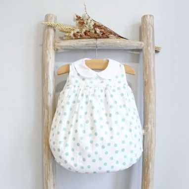 Romper With Green Dots