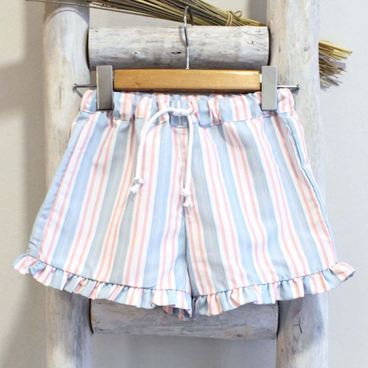 Coral and Blue Shorts