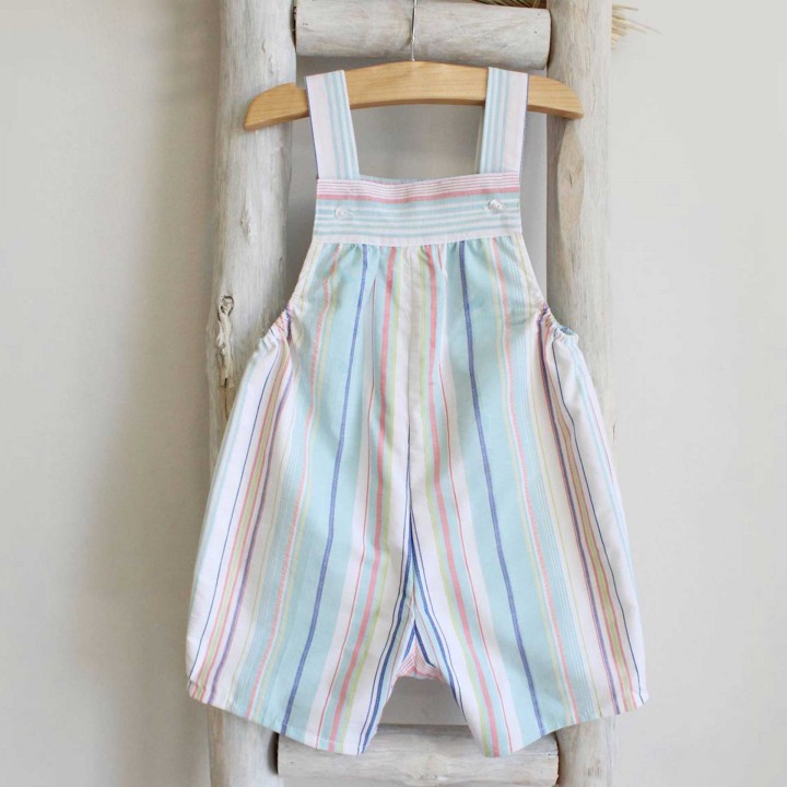 Striped shortalls