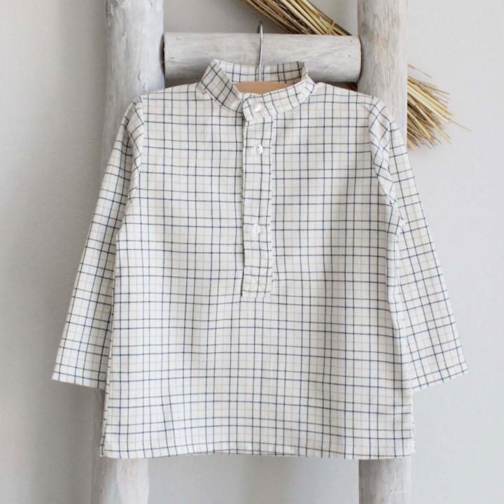Plaid mao shirt
