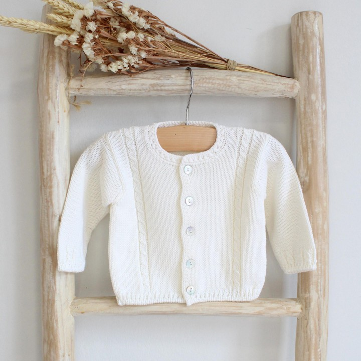 Pearl cable cardigan