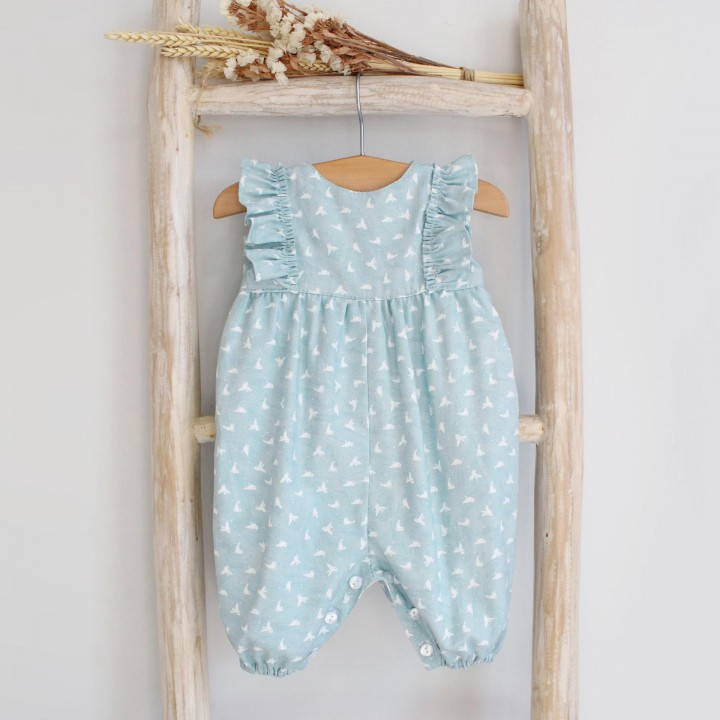Blue Frilly Romper