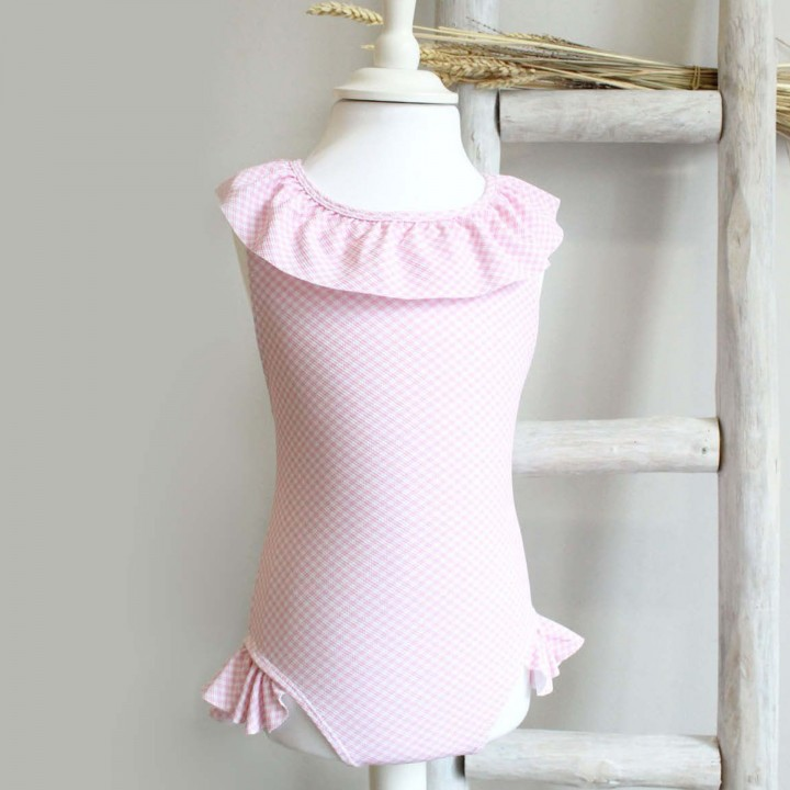 Pink Vichy Swimsuit