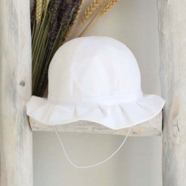 Frilly White Hat