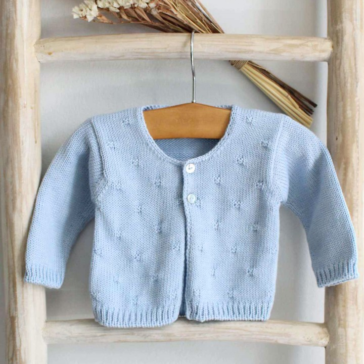 Blue Cable Cardigan