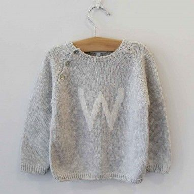 Grey Jumper with W letter