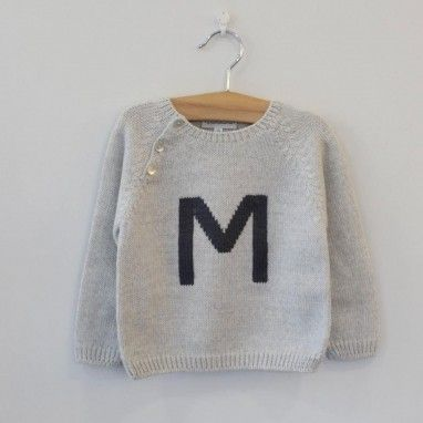 Grey Jumper with M letter