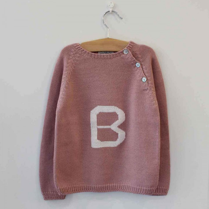 Dusty Pink Jumper with B letter