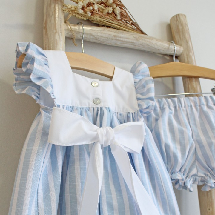 Baby blue stripes Set