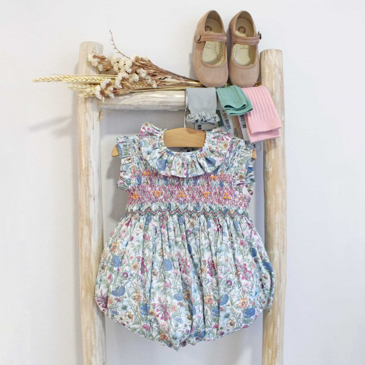 Hand Liberty smocked romper