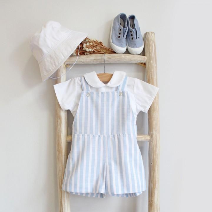 Linen shortalls