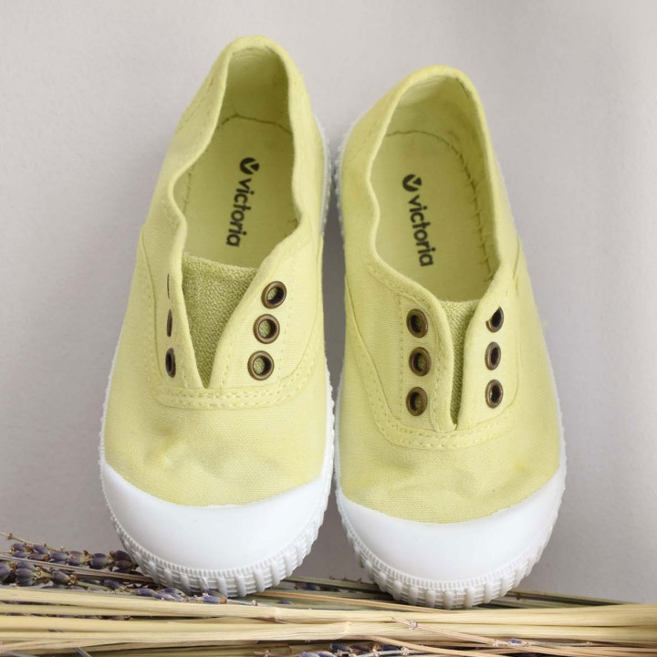 Lime Washed Canvas Shoes