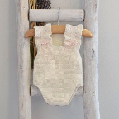 Hand knitted  Romper