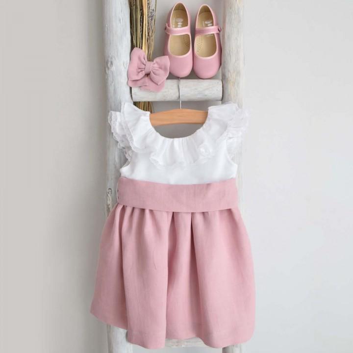 Vestido Mix rosa velho