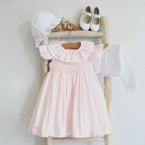 Hand Embroidered Pink Dress