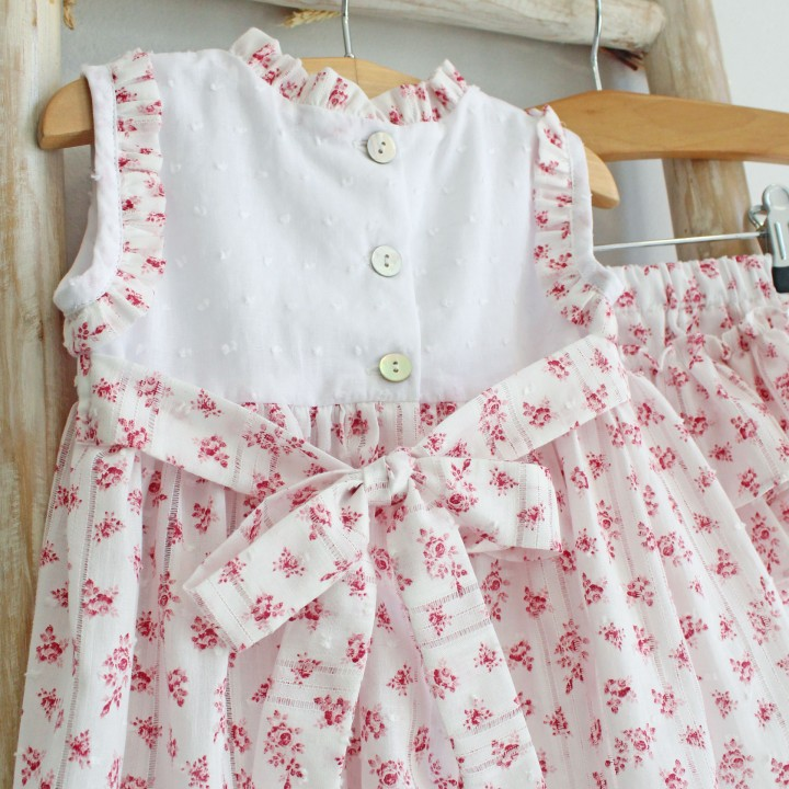 Pink Plumetti Tunic with Bloomers