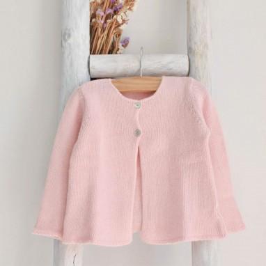 Casaco rosa claro