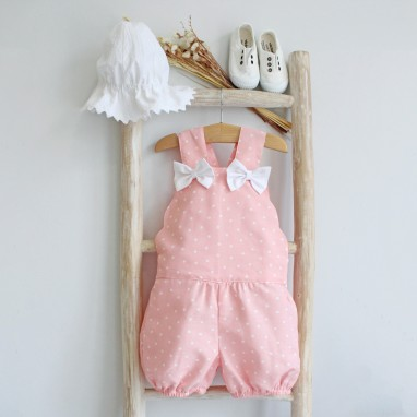 Scalloped Shortalls with bows