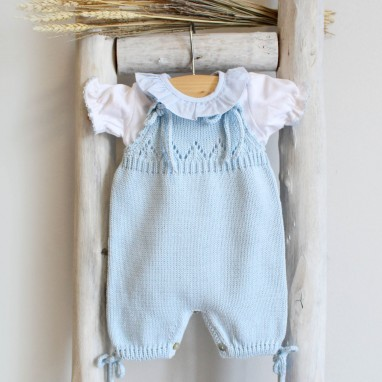 Organic cotton knitted romper