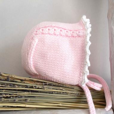 Organic cotton trim Bonnet