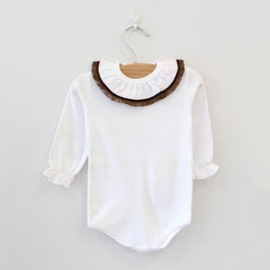 Frilly Collar Bodysuit