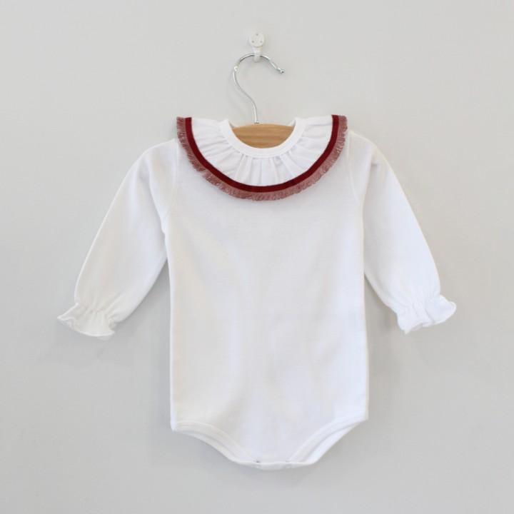 Frilly Collar Bodysuit