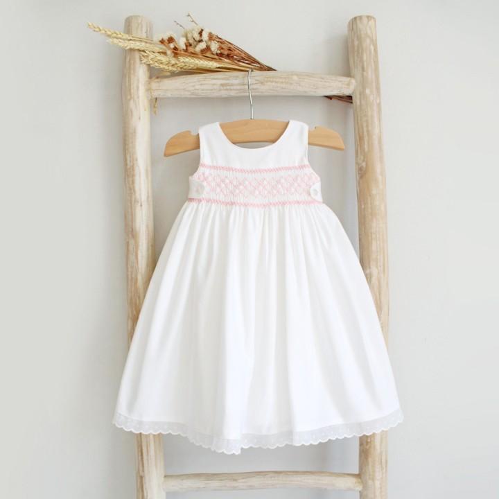 Hand Embroidered Newborn Dress