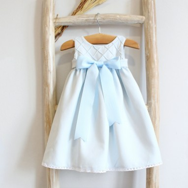 Baby Blue Newborn Dress