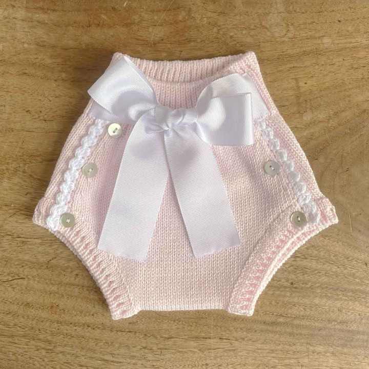 Knitted Bloomers with bow