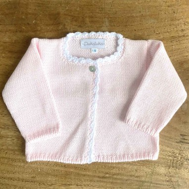 Scalloped Pink cardigan