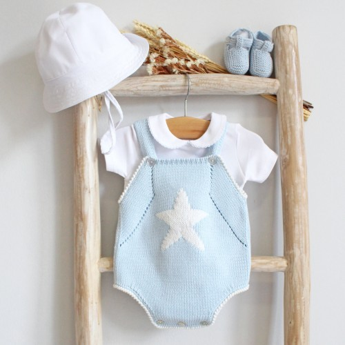 Blue Romper With Star