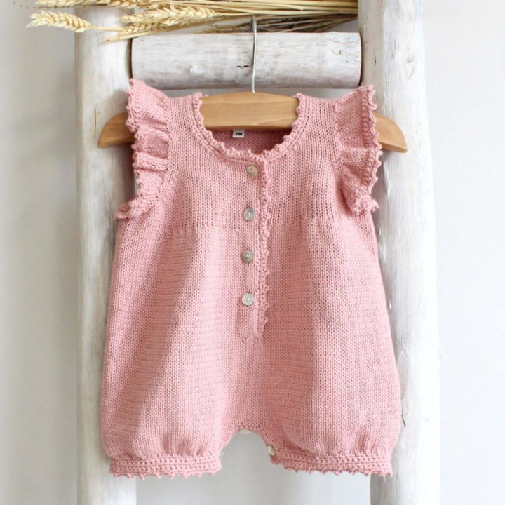 Frilly Cotton knitted romper