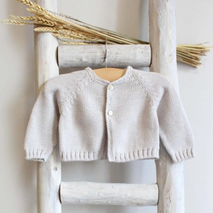 Organic cotton cardigan