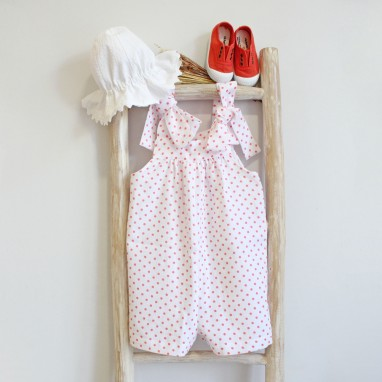 Coral dots Shortalls