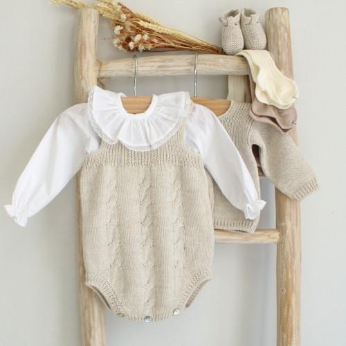 Fôfo em lã com canelado e torcidos