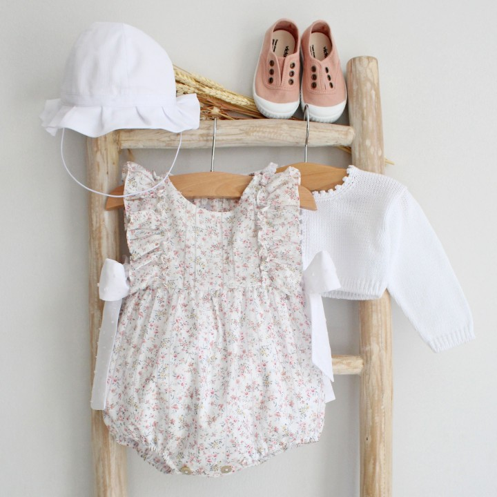 Floral Romper with side bows
