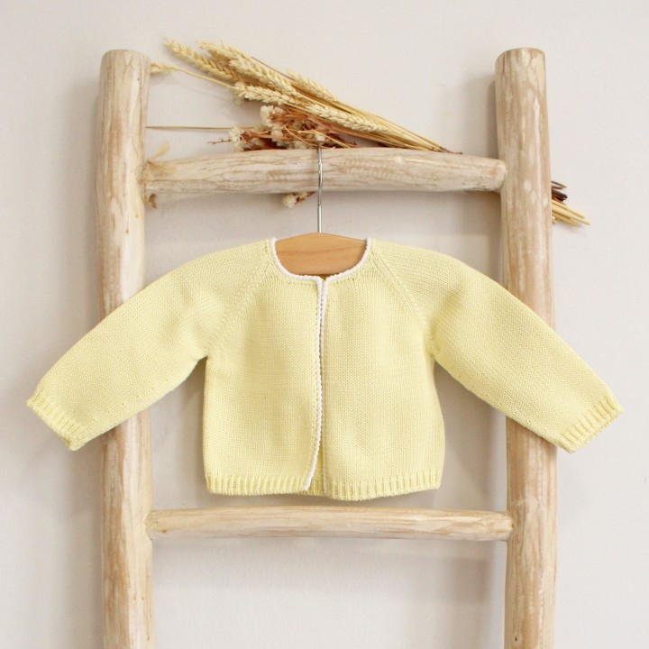 Trim cotton cardigan