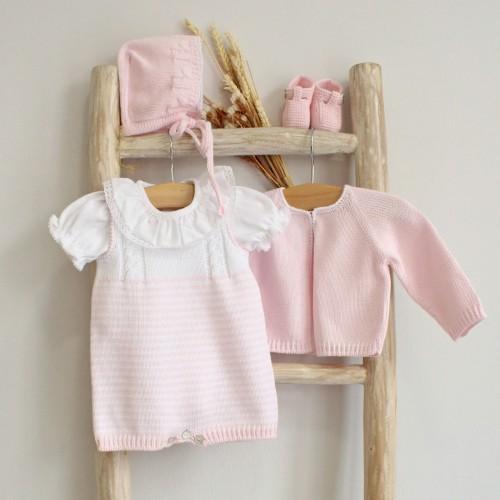 Pink Stripes Romper
