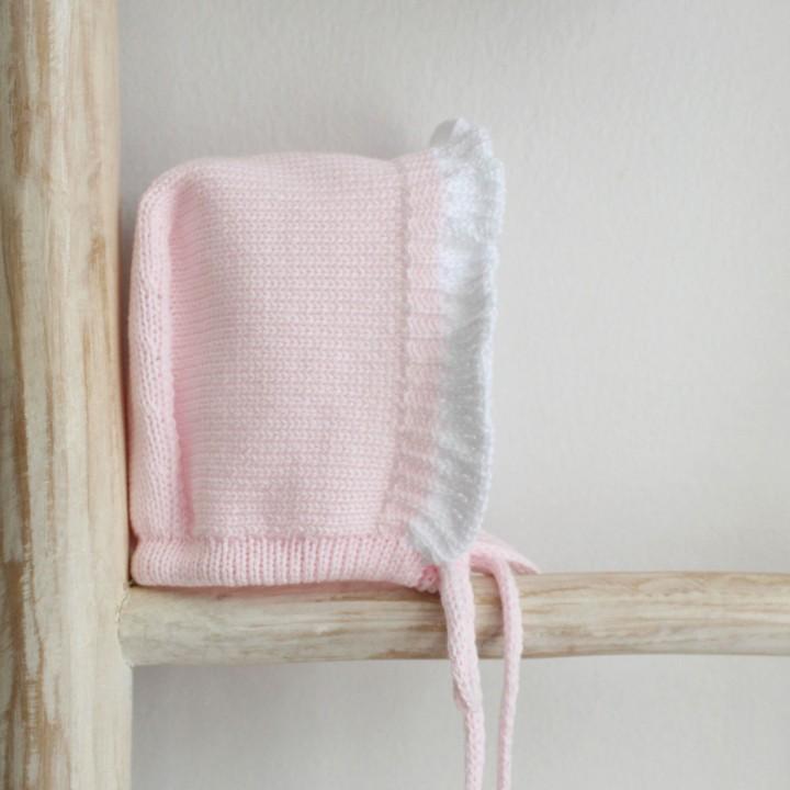frilly cotton Bonnet