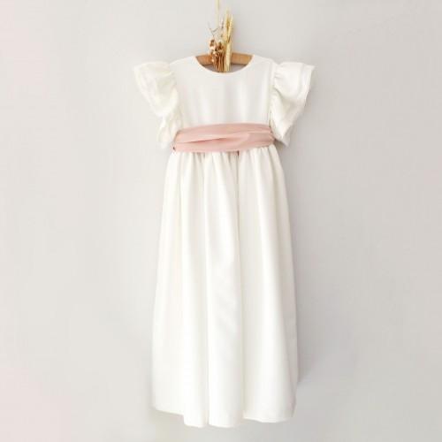 Vestido Comprido Faixa Rosa Velho